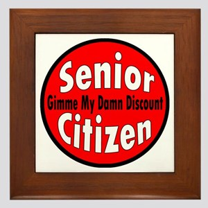Senior Citizen Discount Framed Tile