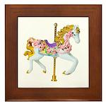 Carousel Horse Framed Tile