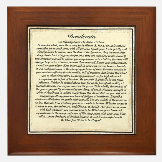 Desiderata Framed Tile