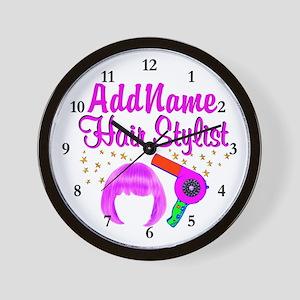 CHIC HAIR STYLIST Wall Clock