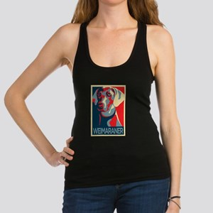 The Regal Weimaraner Racerback Tank Top