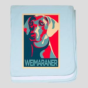 The Regal Weimaraner baby blanket