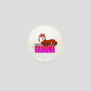 Siberian Husky Grandma Mini Button