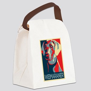 The Regal Weimaraner Canvas Lunch Bag