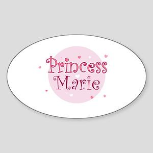 Marie Oval Sticker