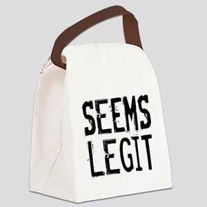 Seems Legit Canvas Lunch Bag