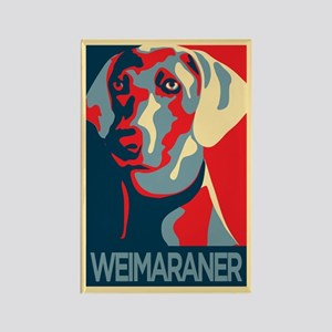 The Regal Weimaraner Rectangle Magnet