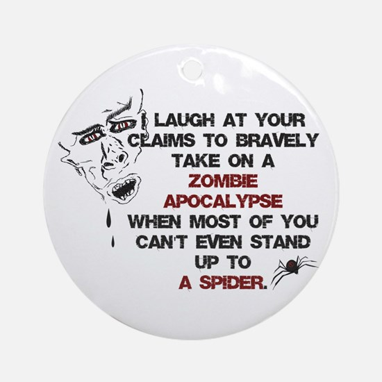Zombies vs Spiders Ornament (Round)