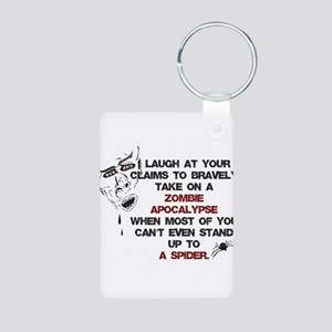 Zombies vs Spiders Keychains