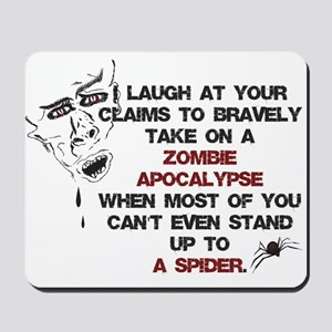 Zombies vs Spiders Mousepad