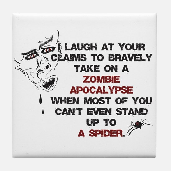 Zombies vs Spiders Tile Coaster