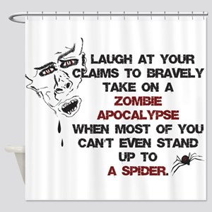 Zombies vs Spiders Shower Curtain