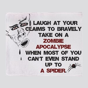 Zombies vs Spiders Throw Blanket
