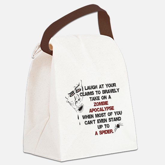 Zombies vs Spiders Canvas Lunch Bag