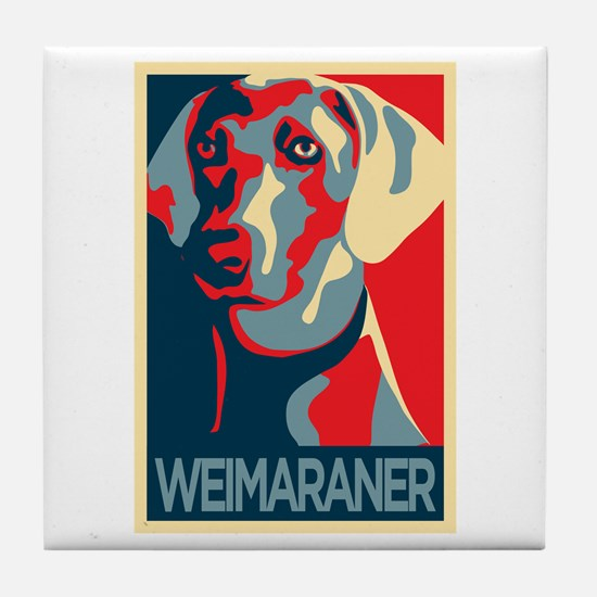 The Regal Weimaraner Tile Coaster