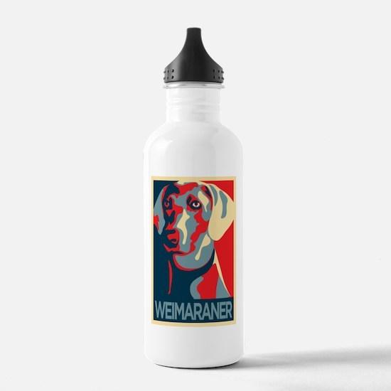 The Regal Weimaraner Water Bottle