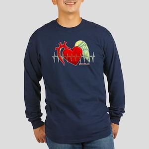 Heart Surgery Survivor Long Sleeve Dark T-Shirt