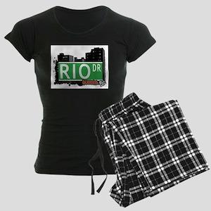 RIO DRIVE, QUEENS, NYC Women's Dark Pajamas
