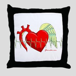Heart Surgery Survivor Throw Pillow