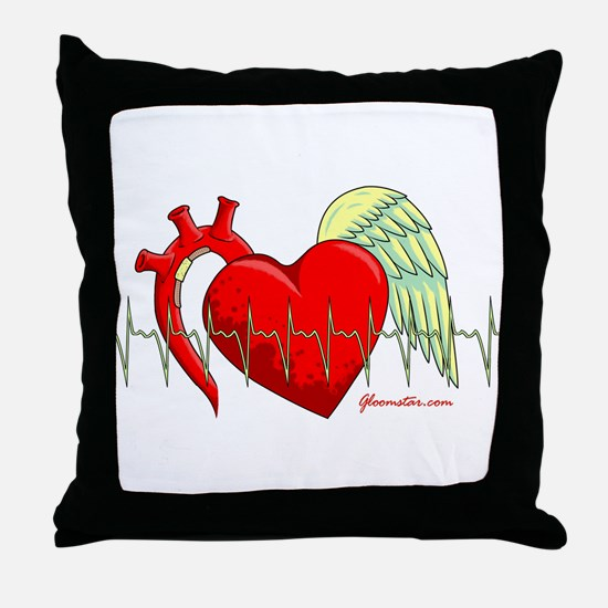 Heart Surgery Survivor Throw Pillow
