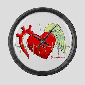 Heart Surgery Survivor Large Wall Clock