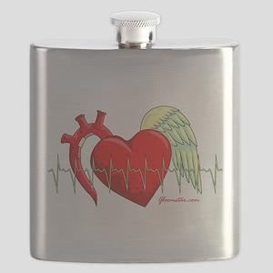 Heart Surgery Survivor Flask