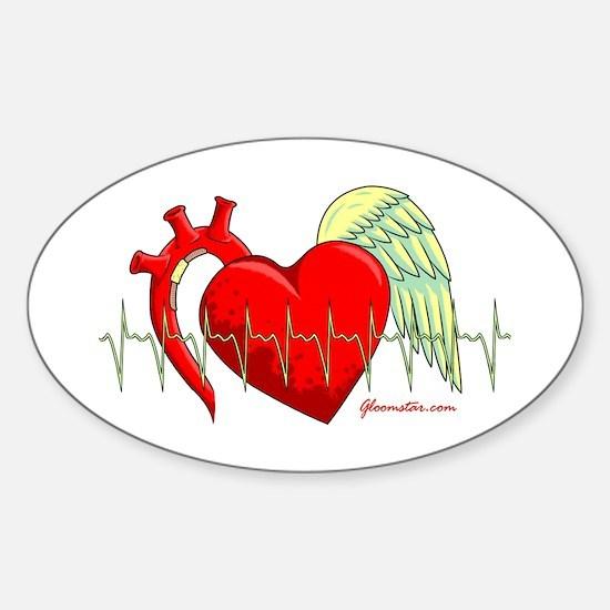 Heart Surgery Survivor Sticker (Oval)