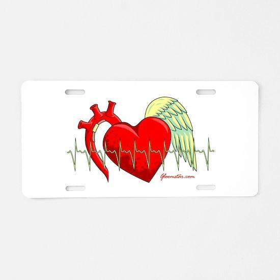 Heart Surgery Survivor Aluminum License Plate