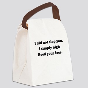 Face High Five Canvas Lunch Bag