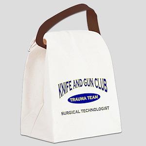 KNIFE & GUN ST BLUE Canvas Lunch Bag