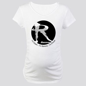 iRecover - Clean. Serene. Proud Maternity T-Shirt