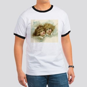 Vintage Victorian Christmas Angels in Heaven T-Shi