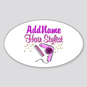 FOXY HAIR STYLIST Sticker (Oval)