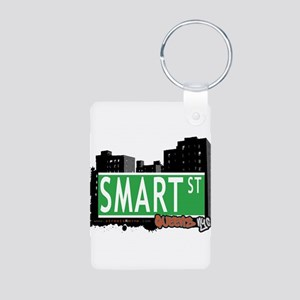 SMART STREET, QUEENS, NYC Aluminum Photo Keychain