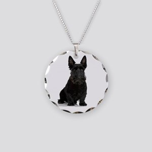Scottish Terrier Necklace Circle Charm