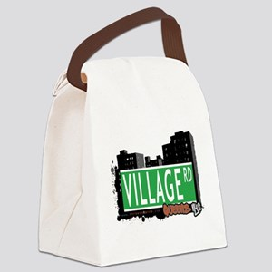 VILLAGE ROAD, QUEENS, NYC Canvas Lunch Bag