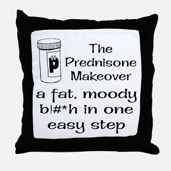 Prednisone Make Over Throw Pillow