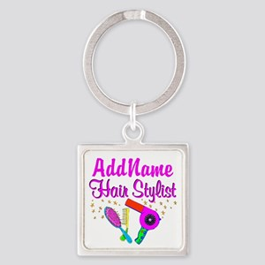1ST PLACE STYLIST Square Keychain
