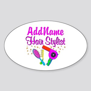 1ST PLACE STYLIST Sticker (Oval)