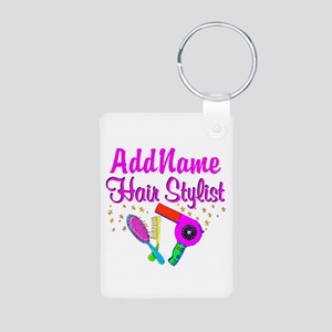 1ST PLACE STYLIST Aluminum Photo Keychain