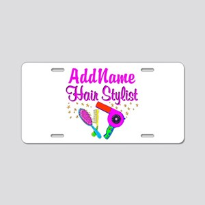1ST PLACE STYLIST Aluminum License Plate
