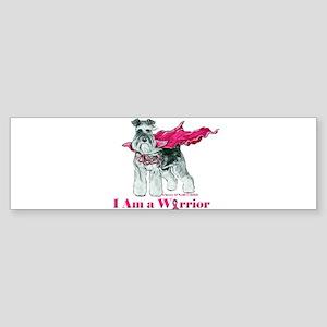 Schnauzer Warrior Bumper Sticker