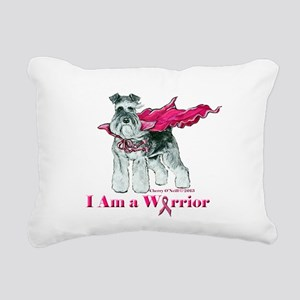 Schnauzer Warrior Rectangular Canvas Pillow