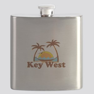 Key West - Palm Trees Design. Flask