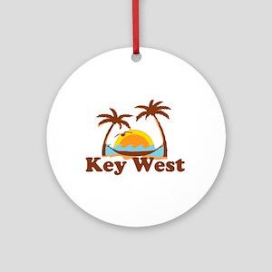 Key West - Palm Trees Design. Ornament (Round)