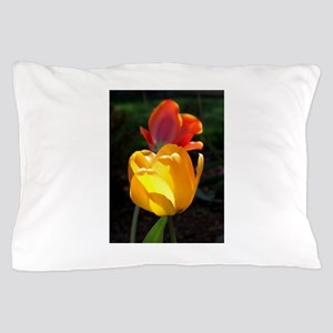 Yellow and Red Tulips Pillow Case