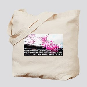 Over 2 Million Breast Cancer Survivors Tote Bag