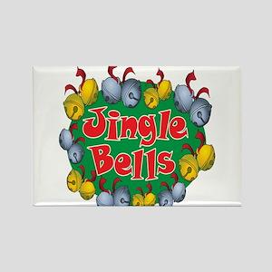 Christmas Cartoon Jingle Bells Text Design Rectang