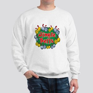 Christmas Cartoon Jingle Bells Text Design Sweatsh