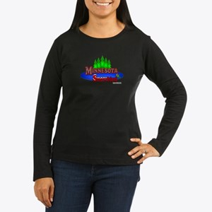 """Minnesota SnowBird"" Women's Long Sleeve Dark T"